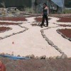 Building an Anhk Labyrinth at Isis Oasis