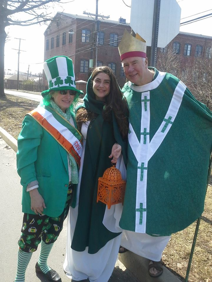 Shannon as Bhride, her Mother Sally and St. Patrick